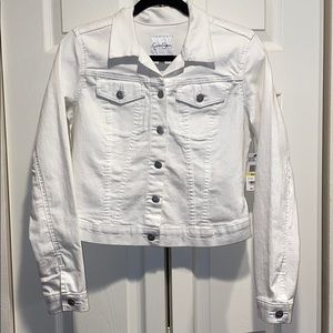 NWT White Denim Jacket